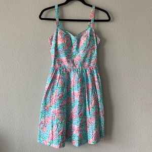 LILY PULITZER/ lobster print flare tank dress